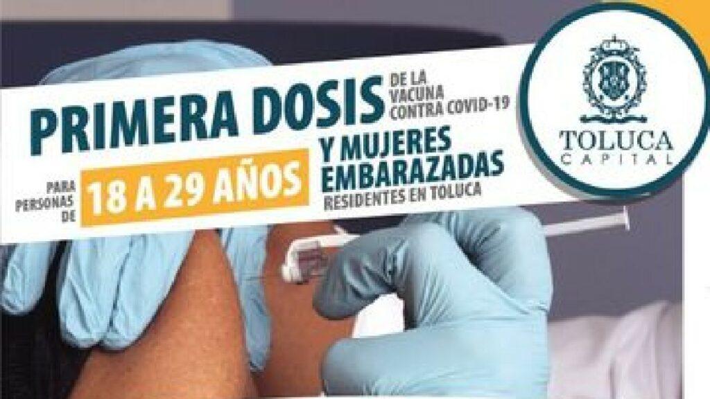 ¿Qué vacuna pondrán en Toluca a personas de 18 a 29 años? Foto: Especial