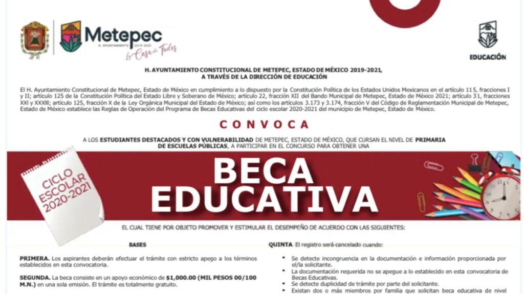 ¿Cuándo salen los resultados Beca Educativa Metepec 2021? Foto: Especial
