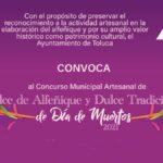 Convocatoria concurso artesanal Dulce de Alfeñique y Dulce Tradicional Toluca   Día de Muertos 2021 Foto: Especial